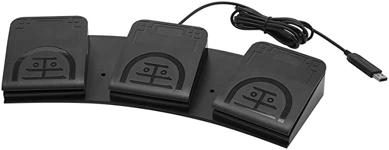 three pedal USB footswitch